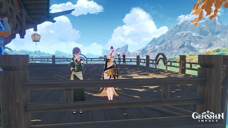 Ninguang with Soraya in Genshin Impact