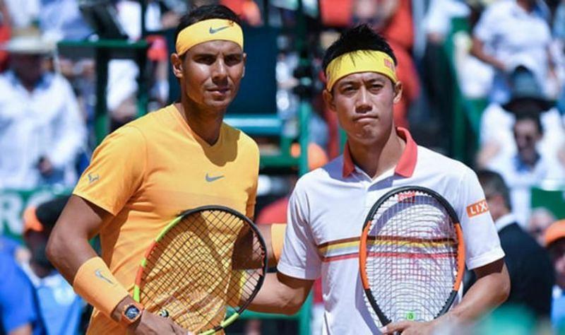 Rafael Nadal and Kei Nishikori
