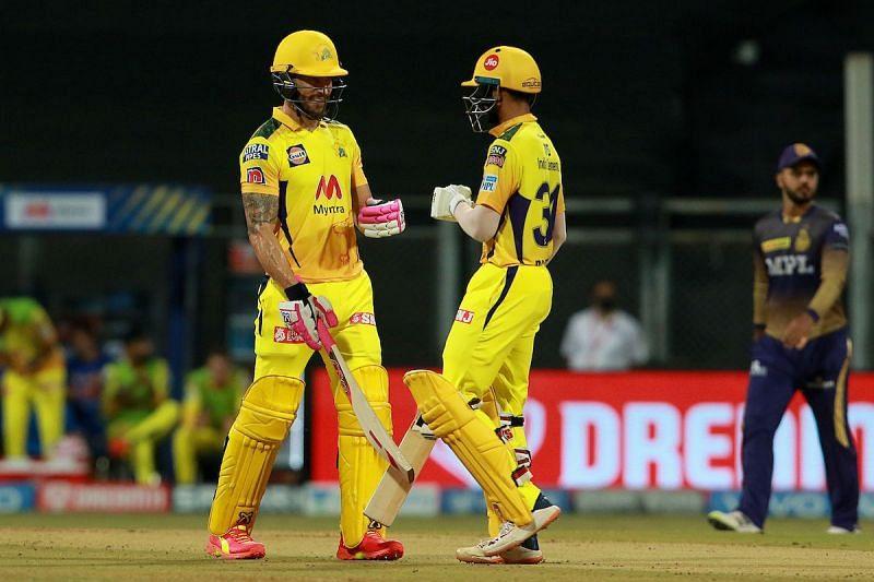 Faf du Plessis (L) and Ruturaj Gaikwad. (PC: IPL)