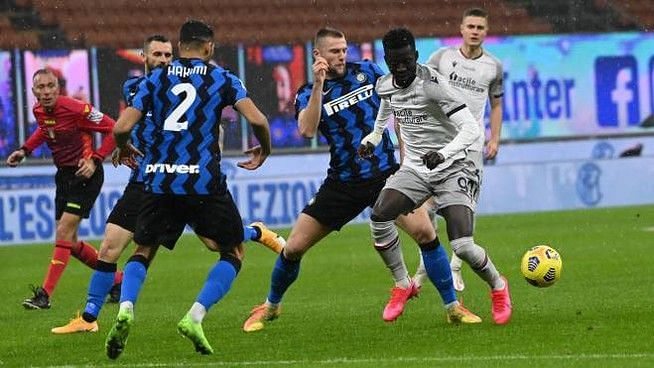 Inter Milan being their final push for the Serie A crown away to Bologna!