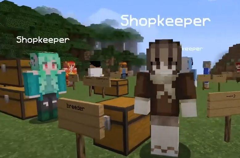 Shopkeepers in Pixelmon