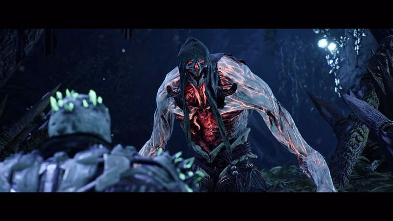 The Blood Morpher in Outriders is a humanoid monster that appears to have a tad of Perforo mixed into it (Image via Square Enix)