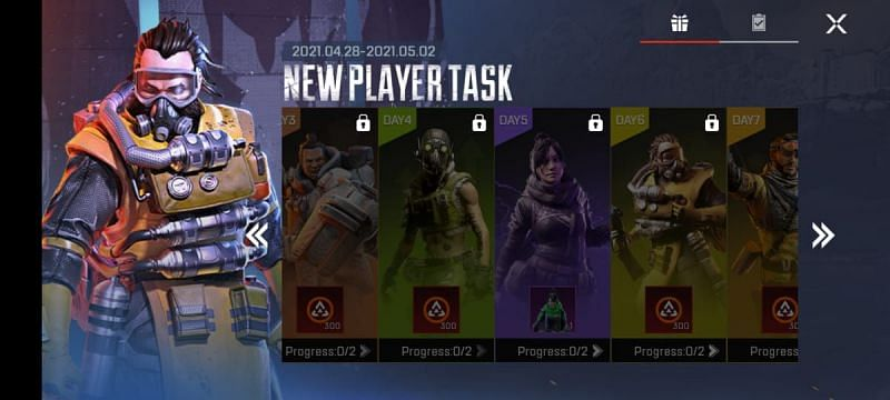 Log in daily to unlock new Legends (Image via Respawn Entertainment, Apex Legends Mobile)