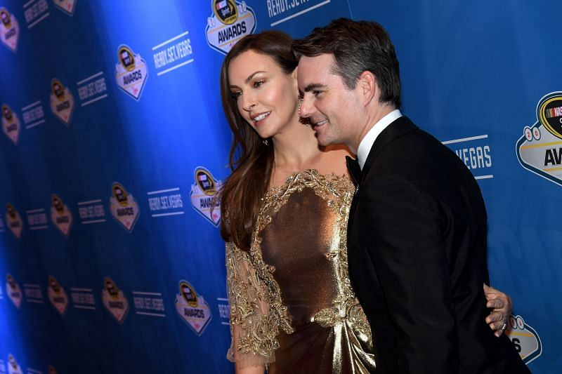 Former NASCAR Cup Series champion Jeff Gordon announced he tested positive for COVID-19. (Photo by Ethan Miller/Getty Images)