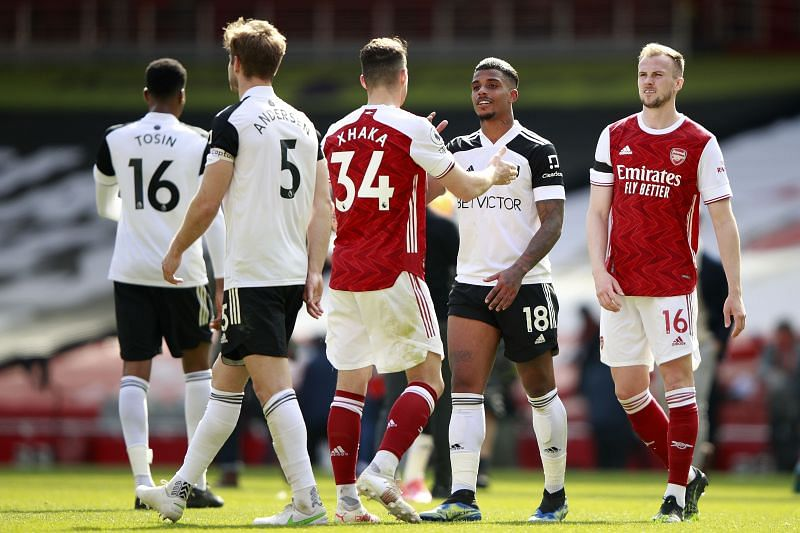 Arsenal salvaged a draw with Fulham