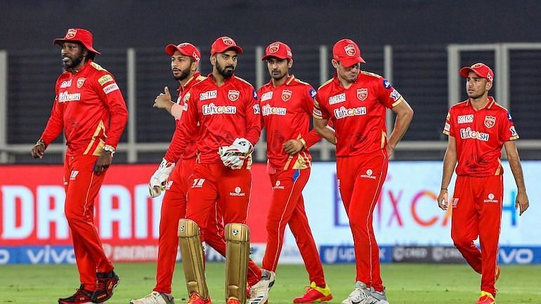 A disappointed KL Rahul leads his troops after the defeat against KKR on Monday. (PC: BCCI)