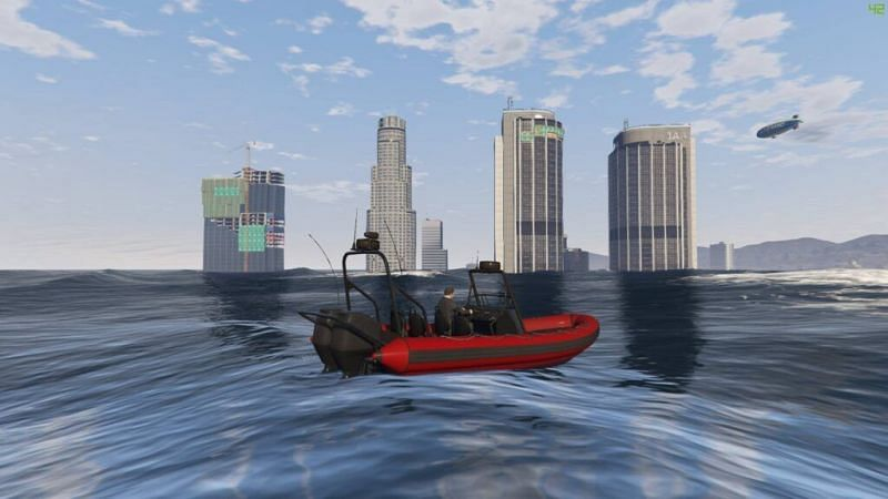 No Water + Tsunami + Atlantis mod is a versatile mod that players can use in GTA 5 (Image via mundomods.com)