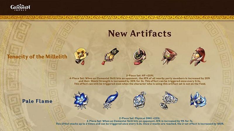 New artifacts in Genshin Impact 1.5 (Image via miHoYo)