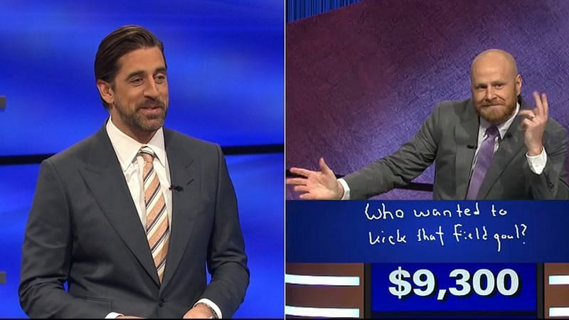 Aaron Rodgers is hosting Jeopardy
