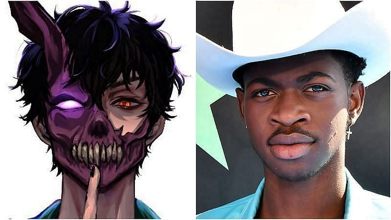 Corpse Husband and Lil Nas X have been dropping hints at a collaboration on Twitter (image via Sportskeeda)