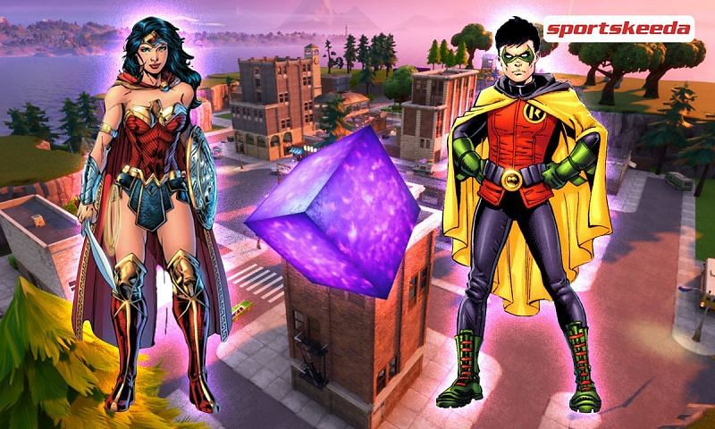 Fortnite Chapter 2 Season 6 Leaks tease Wonder Woman and Robin (Image via Sportskeeda)