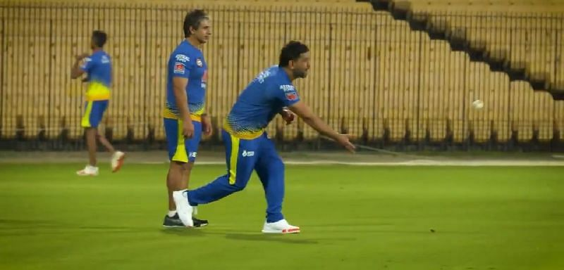 MS Dhoni playing a game of