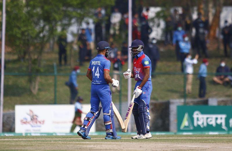 Kushal Bhurtel & Aasif Sheikh (Image Courtesy: CAN Twitter)