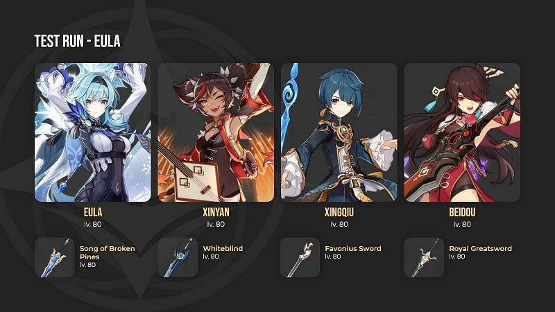 Genshin Impact 1.5 banner including 4-star characters leaked (Image via Project Celestia)