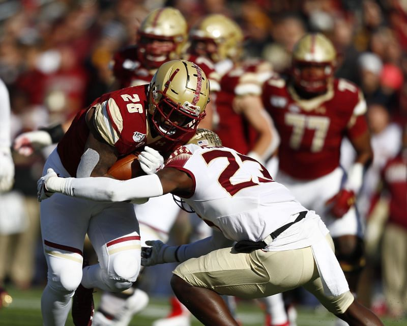 Florida State Safety Hamsah Nasirildeen is a hard-hitting player who loves to line up near the line of scrimmage.