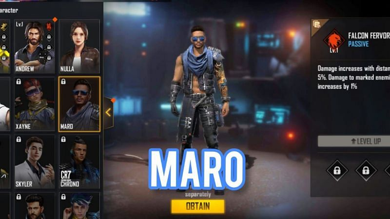 Maro and Xayne are two of the latest additions in the character segment of Free Fire