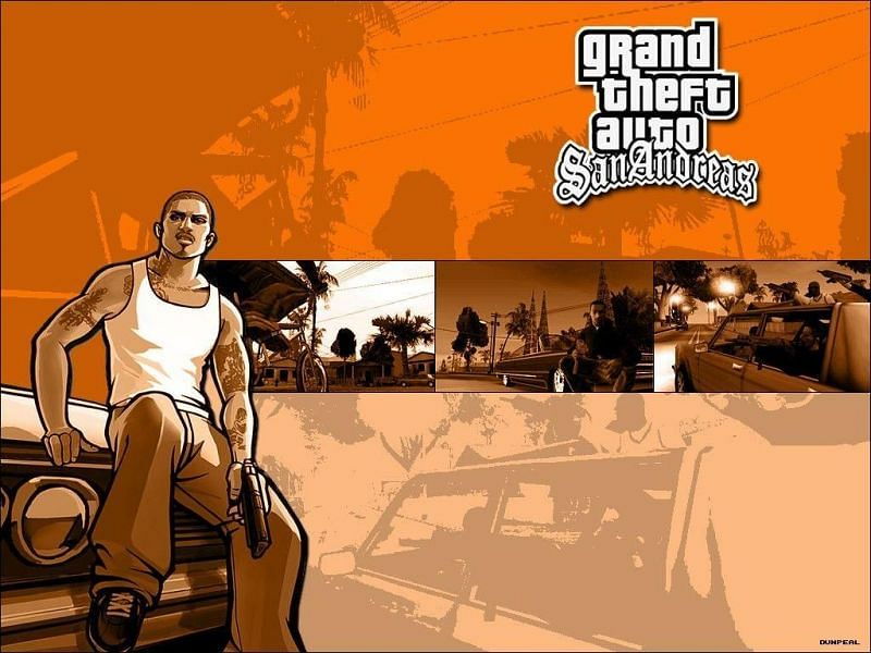 GTA San Andreas is one of the most popular tiles from the franchise (Image via Wallpaper Cave)