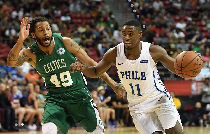 Pierria Henry played for the Boston Celtics in the 2018 NBA Summer League