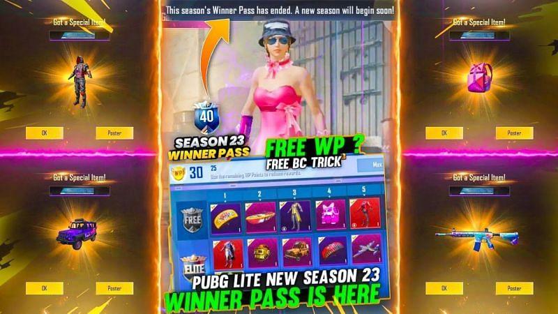 SThe ongoing Winner Pass (Image via JK Gamer - PUBG Mobile Lite, YouTube)