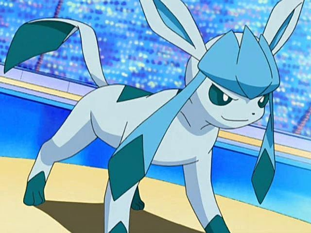 Glaceon in the anime (Image via The Pokemon Company)