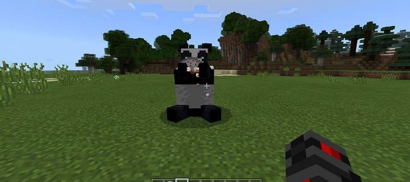Shown: A happy Panda eating some cake! (Image via u/TheUserAnimated on Reddit)