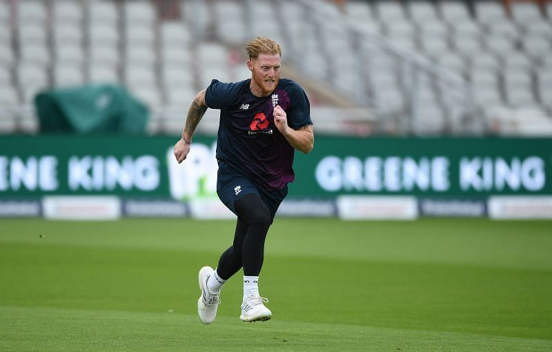 Ben Stokes at an England net session