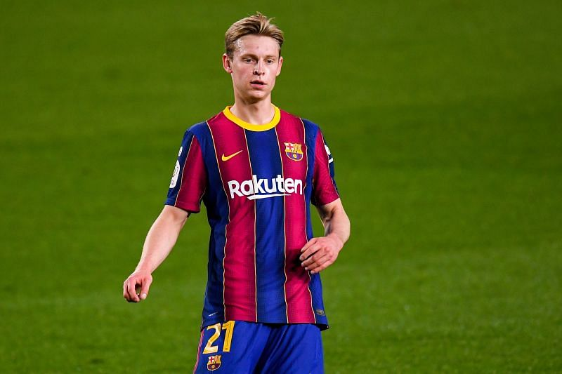 Frenkie de Jong in Barcelona colours