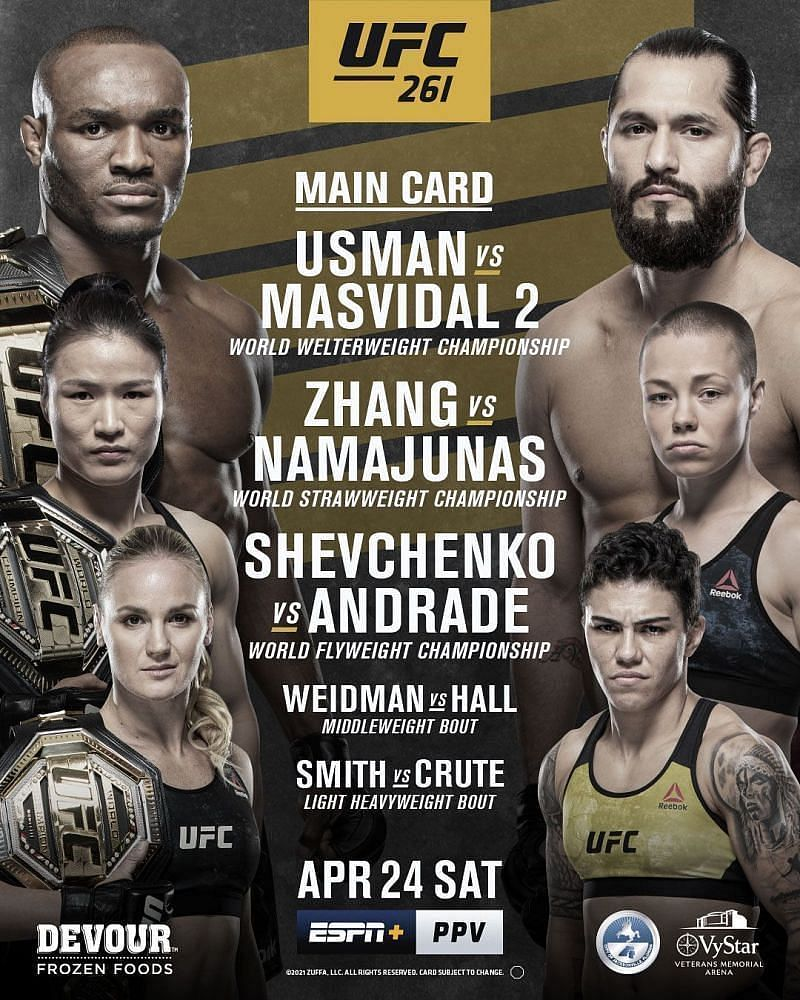 The poster for UFC 261