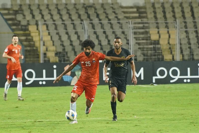 Glan Martins played a pivotal role in the midfield to keep Al-Rayyan midfield at bay. (Image: FC Goa)