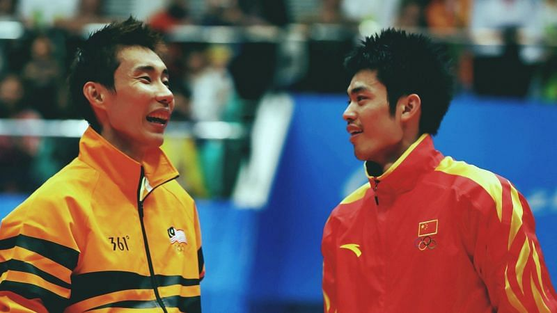 Lee Chong Wei (left) and Lin Dan