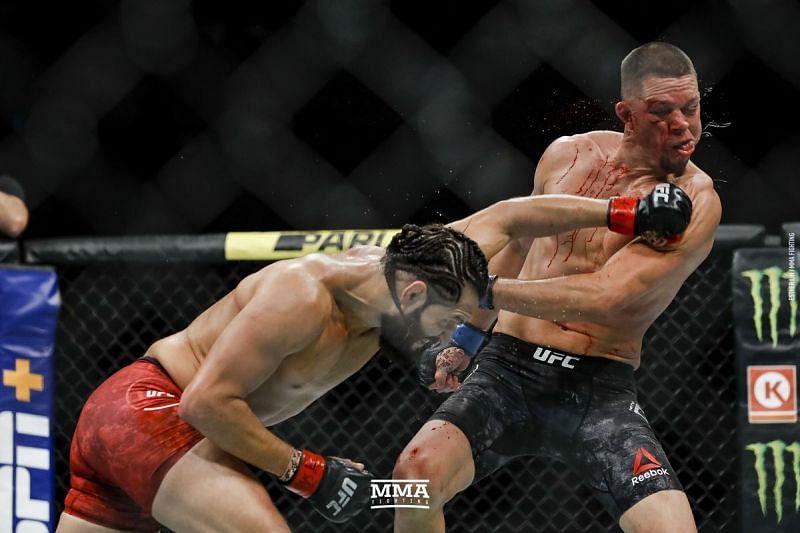 Nate Diaz gets thrashed by Jorge Masvidal.