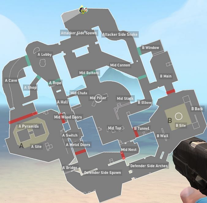 Breeze Map (Image screencapped from Valorant)