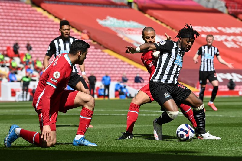 Liverpool drew 1-1 with Newcastle United at Anfield.