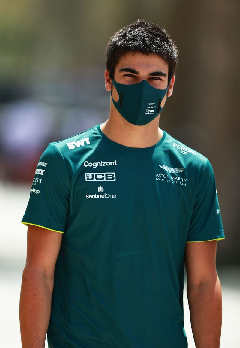 Lance Stroll of Aston Martin F1 team at the 2021 Bahrain GP weekend. Photo: Mark Thompson/Getty Images.