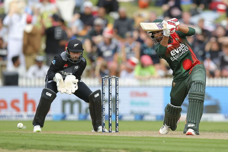 Mahmudullah in action against New Zealand.
