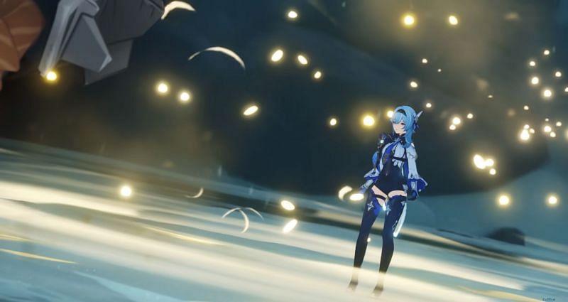 Livestream preview of Eula (image via Genshin Impact)