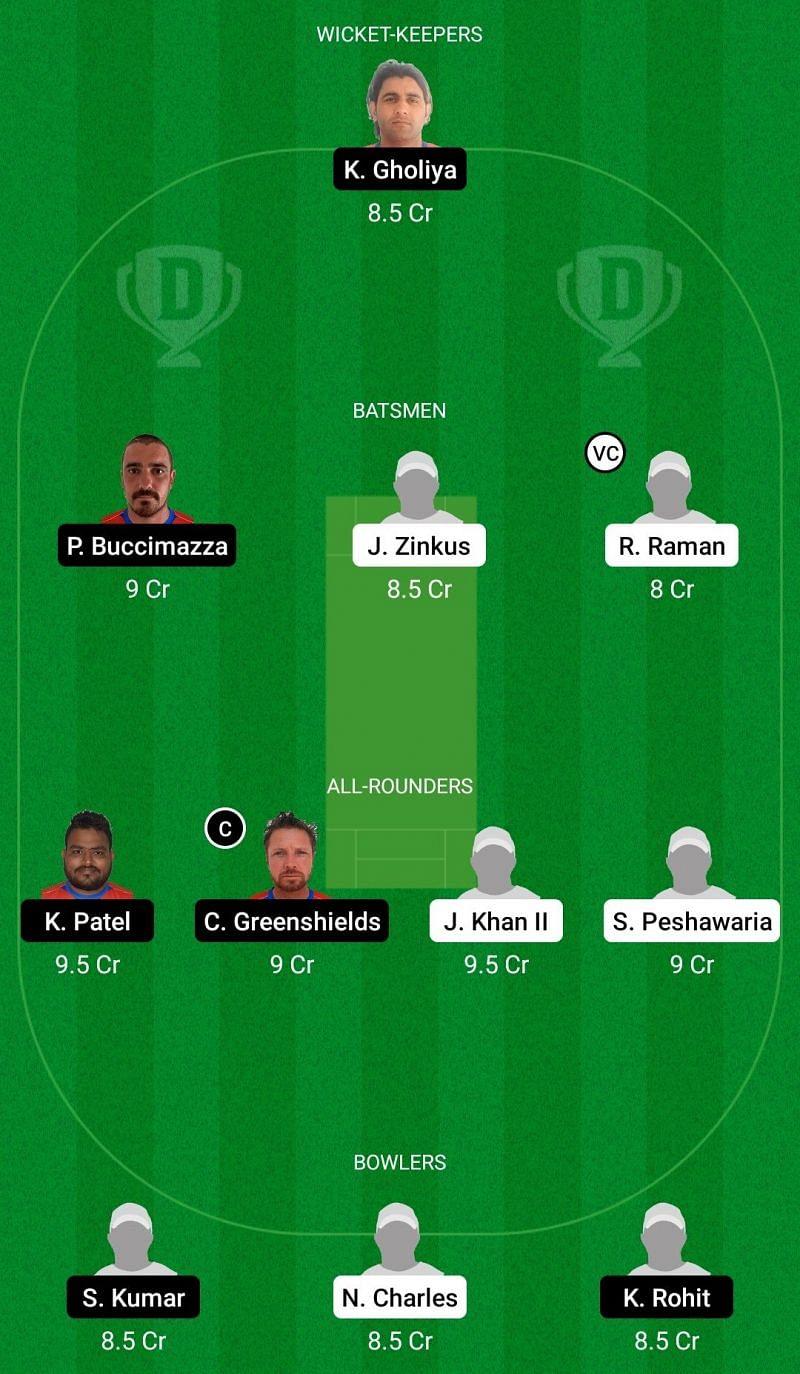 Dream11 Team for Oporto Cricket Club vs Oeiras - ECS T10 Portugal 2021.