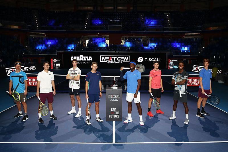 The field at the 2020 Next Gen ATP Finals, featuring the likes of Jannik Sinner and Alex de Minaur