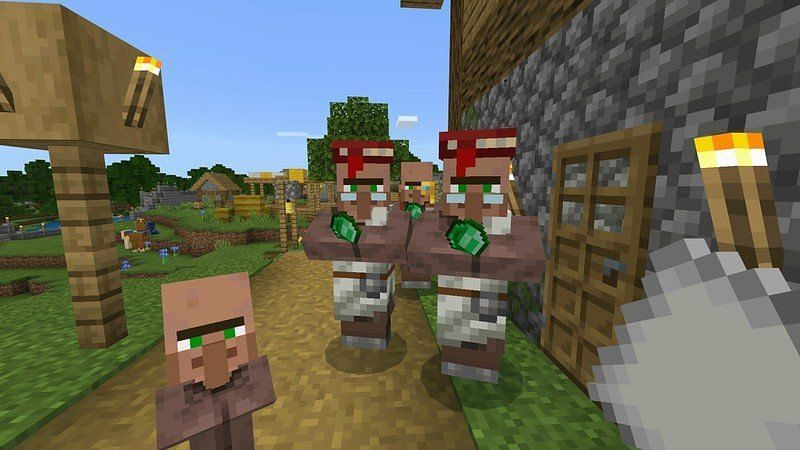 Trading bricks with villagers in Minecraft can be an extremely lucrative business