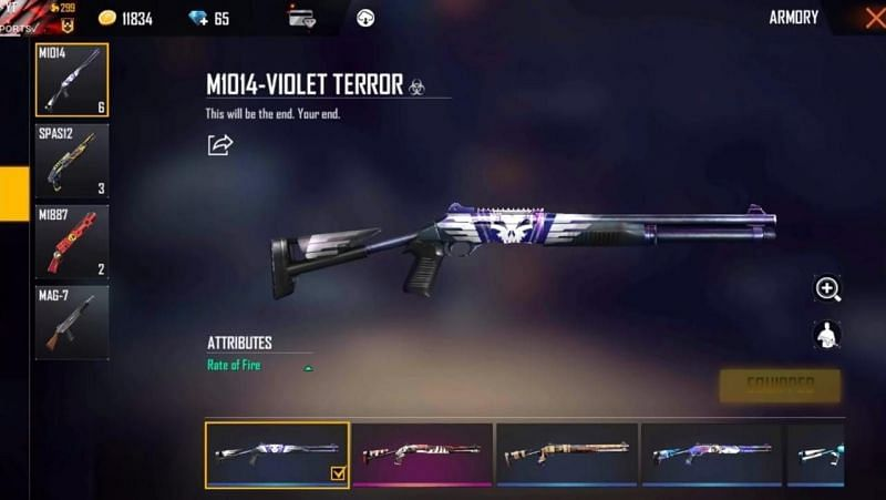 Violet Skin in Free Fire