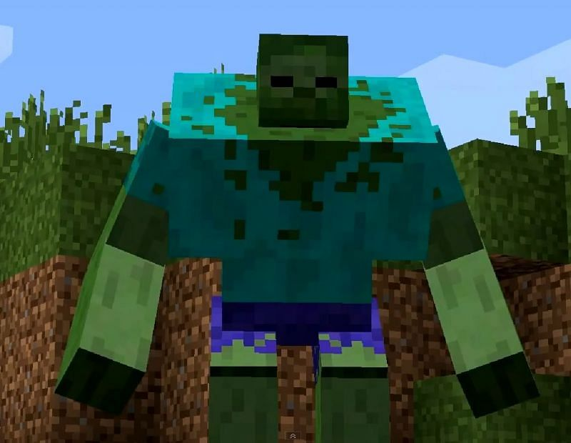 Mutant zombie in-game appearance (Image via minecraft.wikia.com)