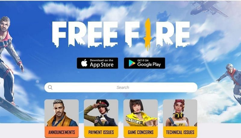 Explaining how to get back lost accounts via the Free Fire Help Center