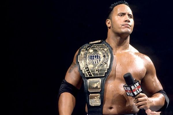 The Rock as Intercontinental Champion (Credit: WWE)