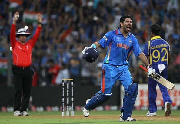 Yuvraj Singh played his part to perfection in the World Cup final (Credits: Circle of Cricket)