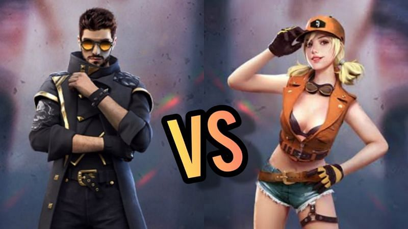 Comparing two Free Fire characters (Image via Sportskeeda)