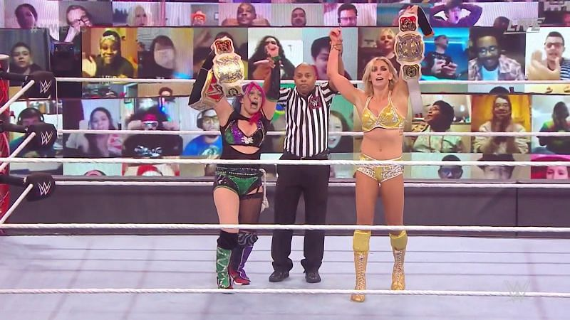 Asuka and Charlotte with the Women