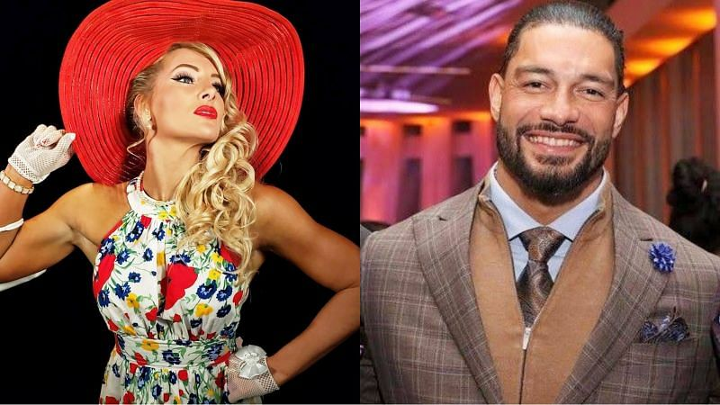 Lacey Evans and Roman Reigns