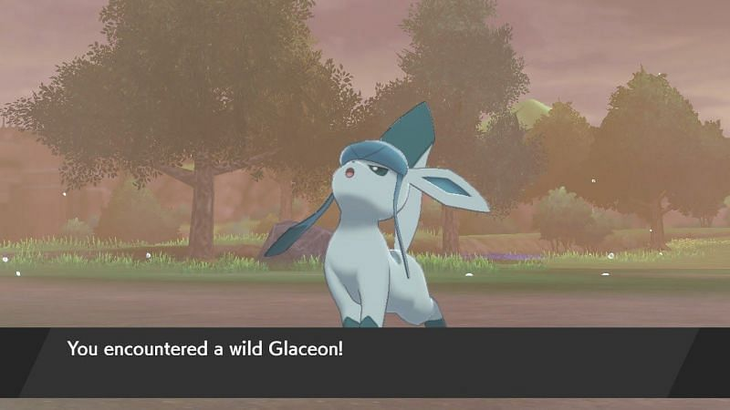 Carefully battle Glaceon to bring it to low health (or just throw a quick ball). If you can, try giving it a status effect like Paralysis or Sleep to make it easier to catch.