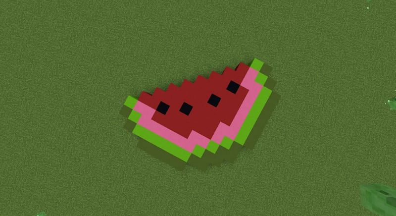 Melon pixel art (Image via planetminecraft)