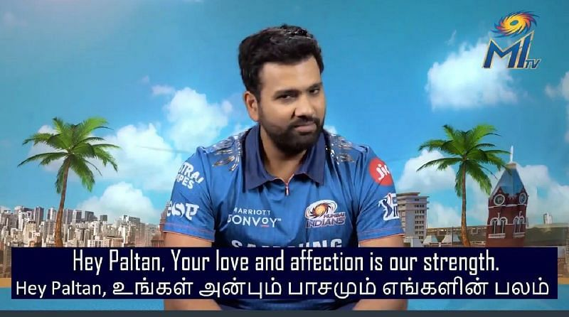 Rohit Sharma. (Pic Courtesy:Twitter: @Mipaltan)
